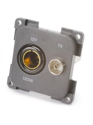Socket (12V+TV+SAT) BLACK